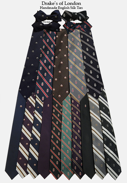 0 - Drake's of London Silk Ties & Bowtie - $125/$145