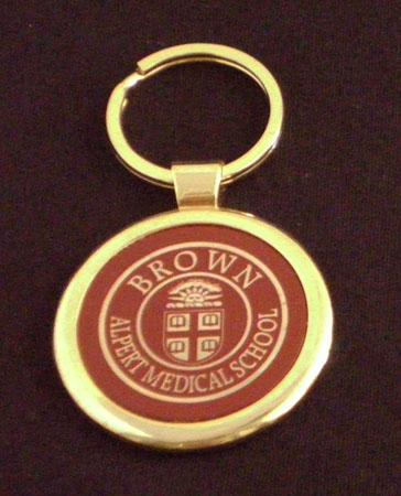 Keyring - Alpert Medical School Burgundy
