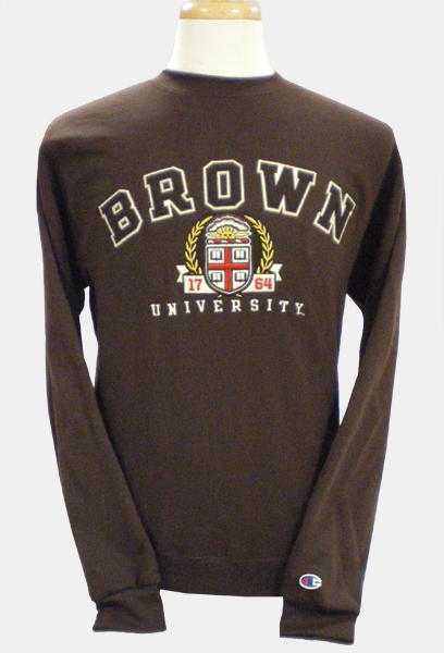 Image For Champion Brown Crest Crew Sweatshirt - $49.99