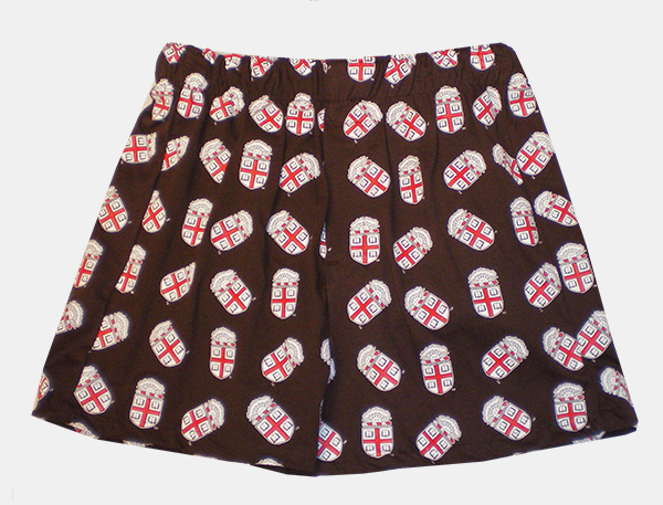 Image For U-Trau Brown Crest Boxers - $24.99