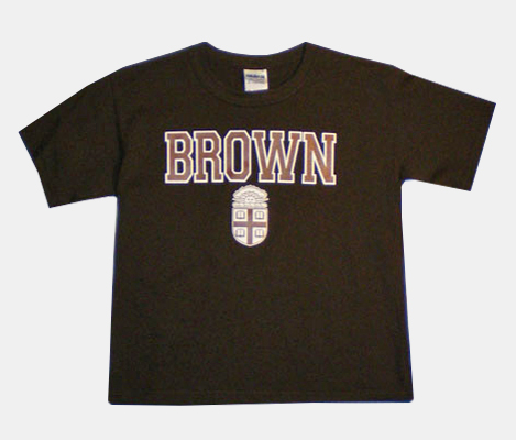 Image For YT - ESS Youth Brown Crest Tee - $18.99