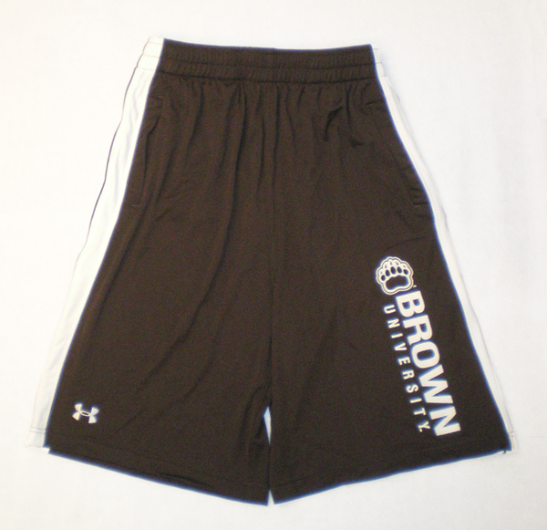 Image For Under Armour Brown Stripe Shorts - Now $29.99