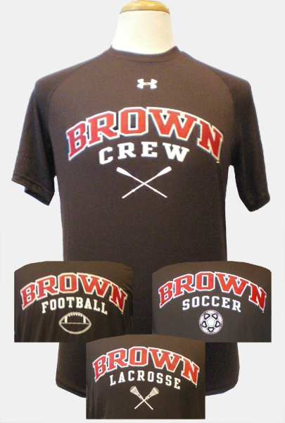 Image For Under Armour Brown Sports Tees - $34.99