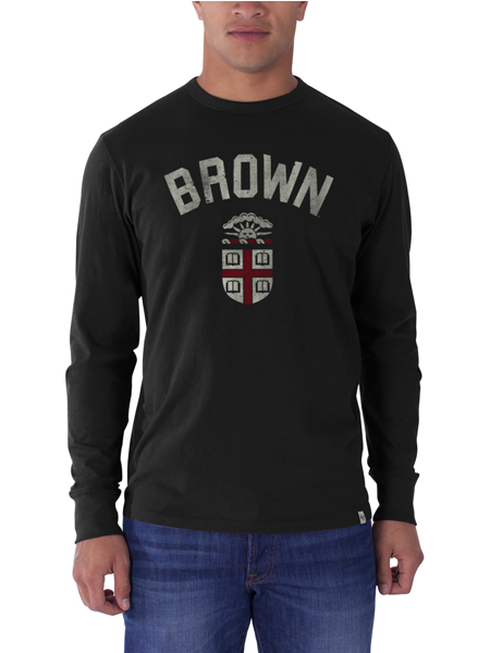 Image For 47 Brand Black Crest Long-Sleeve Tee - $38.00