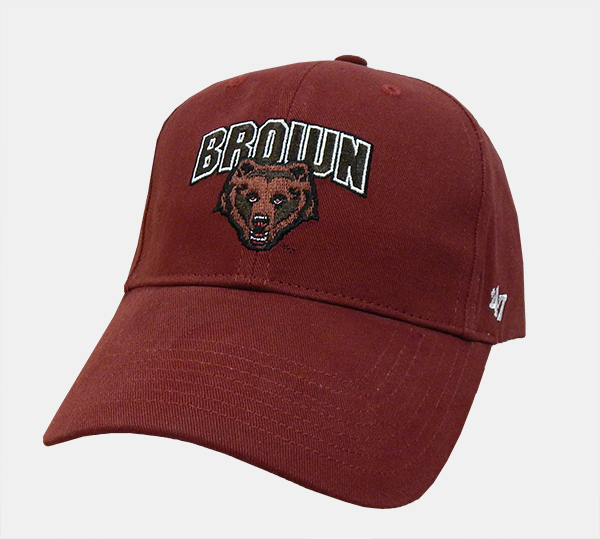 Image For YH - 47 Brand Youth Cardinal Brown+Bear Cap
