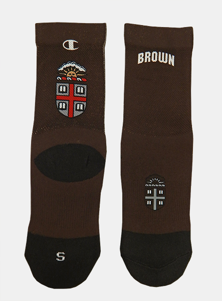 Image For Champion Brown Crest Socks - $22.99