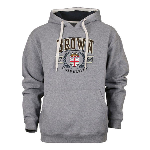 Image For Ouray Grey Crest Hooded Sweatshirt - $64.99