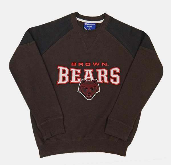 Image For YSS - Champion Youth Brown Bears Crew Sweatshirt - $46.99