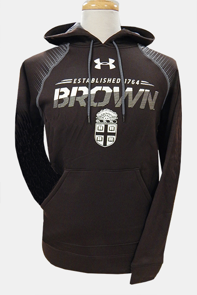 Image For Under Armour Brown Crest Hooded Sweatshirt - $84.99