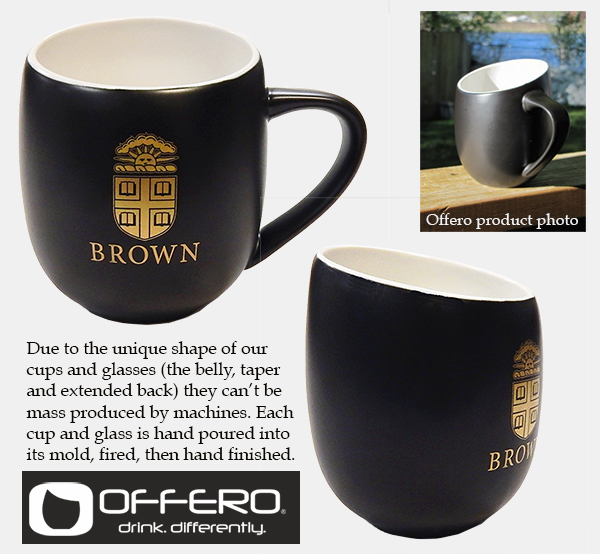 Image For Ceramic Mug - Offero Black & White Tapered