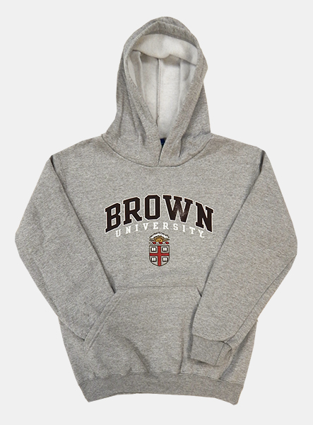 Image For Champion Youth Grey Crest Hooded Sweatshirt - $36.99