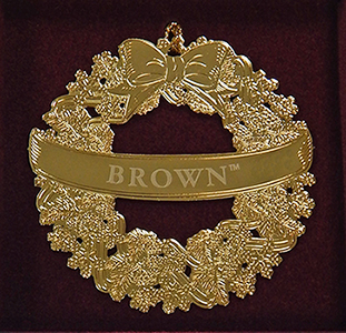 Image For Ornament - Brass Wreath