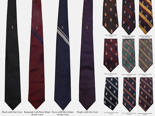 Image For 1 - Drake's of London Silk Crest Ties - $145