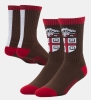 Cover Image for 47 Brand Brown Stripe Crest Socks - Size L (M 9-13)