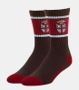 Cover Image for 47 Brand Brown & Cardinal Crest Socks-Size L(M 9-13)