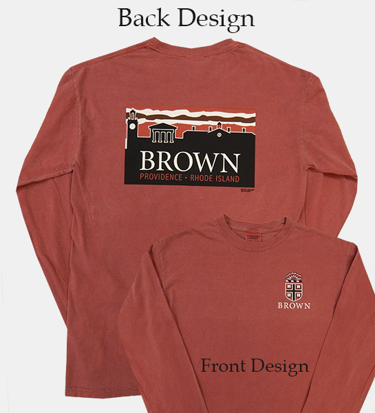 Image For Uscape Brick Red Crest Skyline Long-Sleeve Tee - $44.99