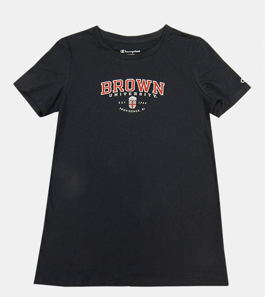 Image For Champion Black University Women's Tee - $20.99