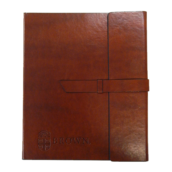Cover Image For Padholder - Brown with debossed Crest