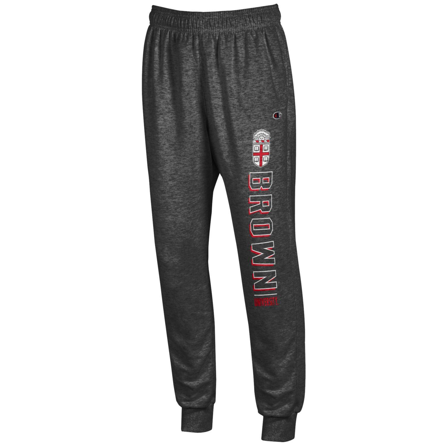Image For Champion Women's Charcoal Crest Sweatpants - Small