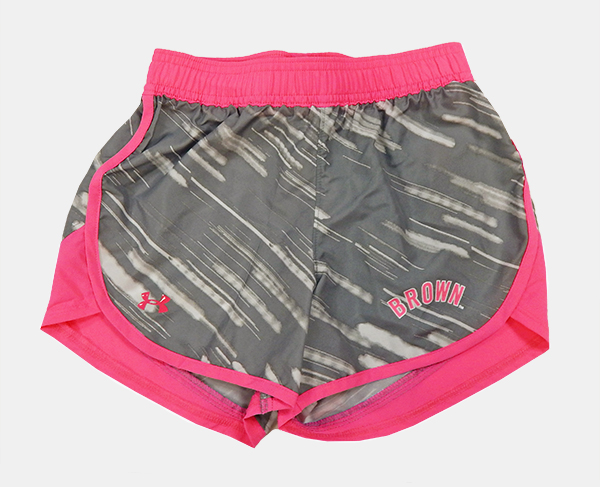 Image For YSH - Under Armour Grey & Pink Girl's Shorts - $29.99