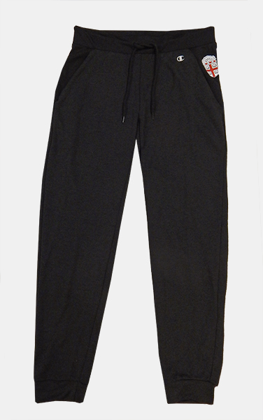 Image For Champion Black Mesh Women's Cropped Sweatpants - $39.99