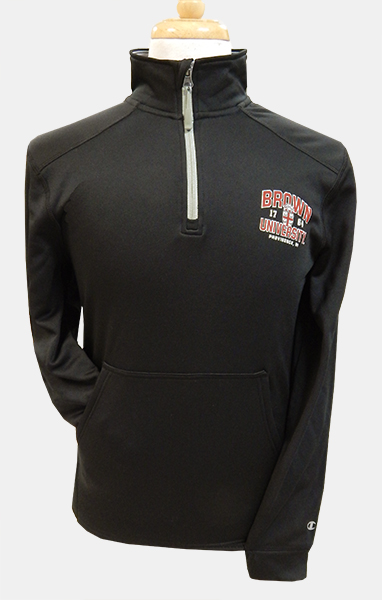 Image For Champion Black Univ. 1/4 Zip Pullover - $49.99