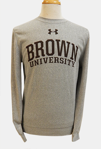 Image For Under Armour Grey Univ. Crew Sweatshirt - $59.99