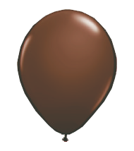 "Image For 11"" Latex Balloon - Chocolate Brown"