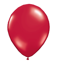 "Image For 11"" Latex Balloon - Ruby Red"