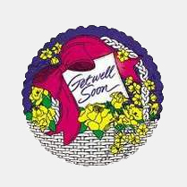 Image For Get Well Soon - Flower Basket Balloon