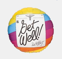 Image For Get Well Prescription  - Rainbow Balloon