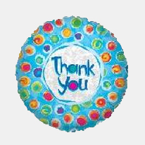 Image For Thank You - Blue Dots Balloon