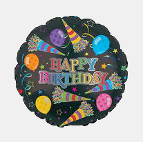 Image For Happy Birthday - Party Horns Balloon