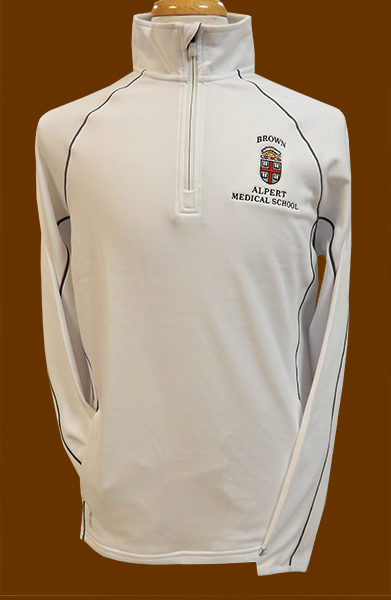 Image For Champion AMS White Crest 1/4 Zip Pullover - $49.99