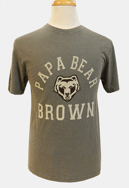 Image For Gear Grey Papa Bear Tee - $32.99