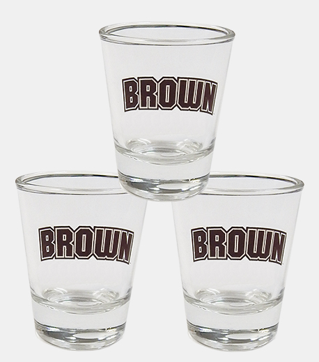 Image For Shot Glass - Arched Brown