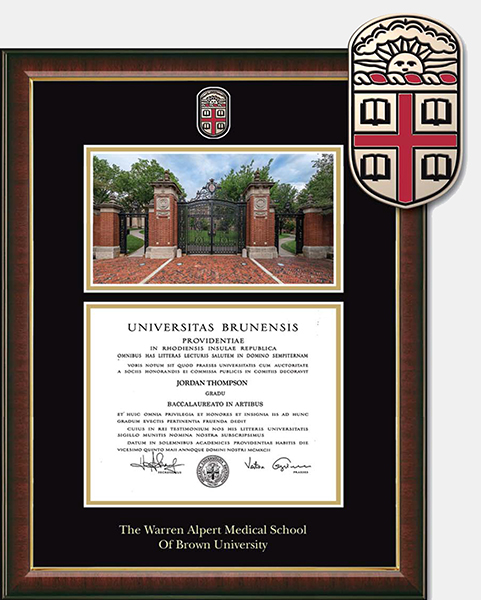 Image For Church Hill AMS Campus Scene Photograph Diploma Frame