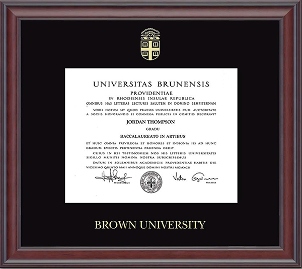 Image For Church Hill Embossed Studio Diploma Frame - BA/MA/PhD