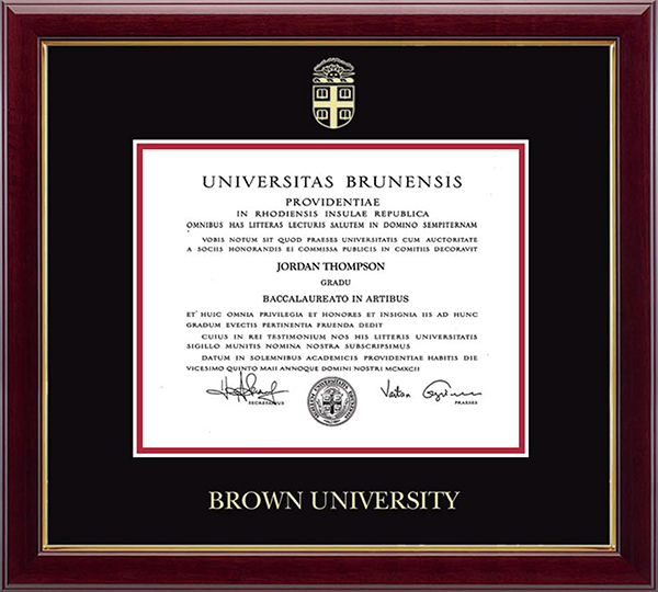 Image For Church Hill Embossed Gallery Diploma Frame - BA/MA/PhD