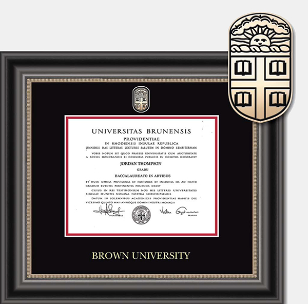 Image For Church Hill Masterpiece Noir Diploma Frame - BA/MA/PhD