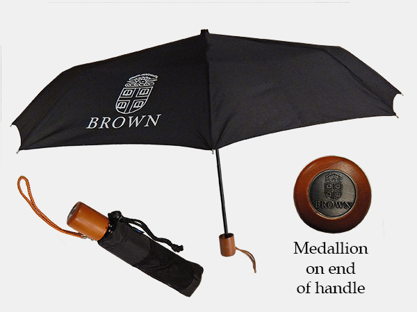 Image For Umbrella - Black Super Mini with Medallion