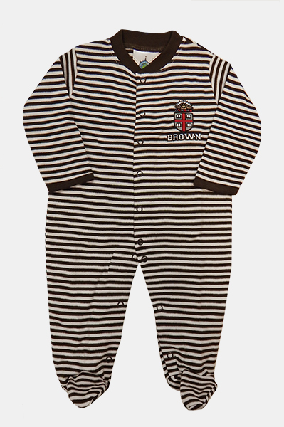 Image For INF - CK Infant Brown & White Striped Footed Romper - $30.99