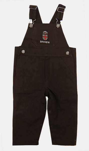 Image For TOD - CK Toddler Brown Crest Overalls - $31.99