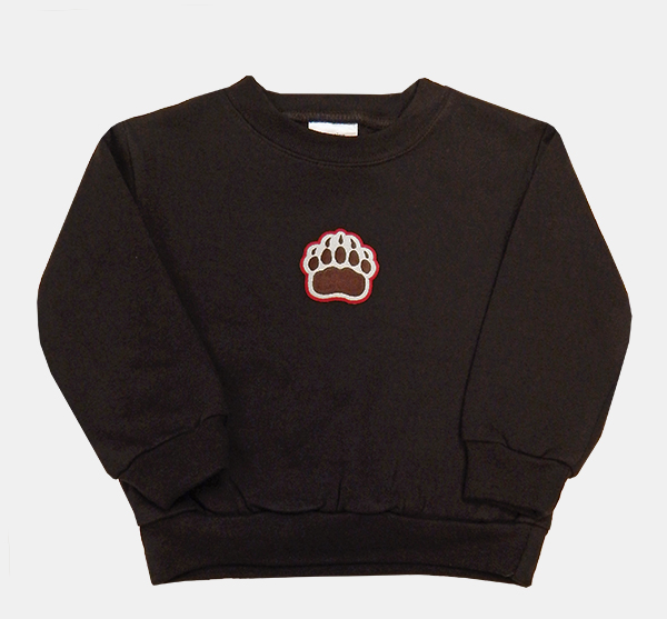 Image For TOD - CK Toddler Brown Paw Sweatshirt - $20.99