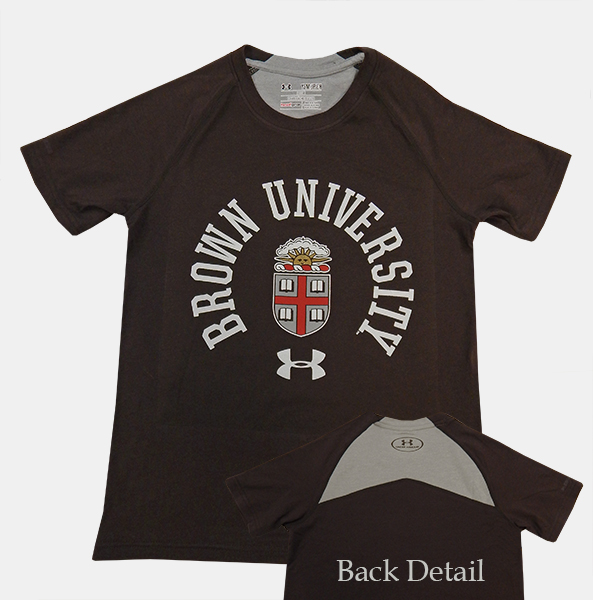 Image For YT - Under Armour Youth Brown Crest Univ. Tee - $33.99