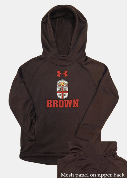 Image For YSS - Under Armour Youth Brown Crest Hooded Sweatshirt