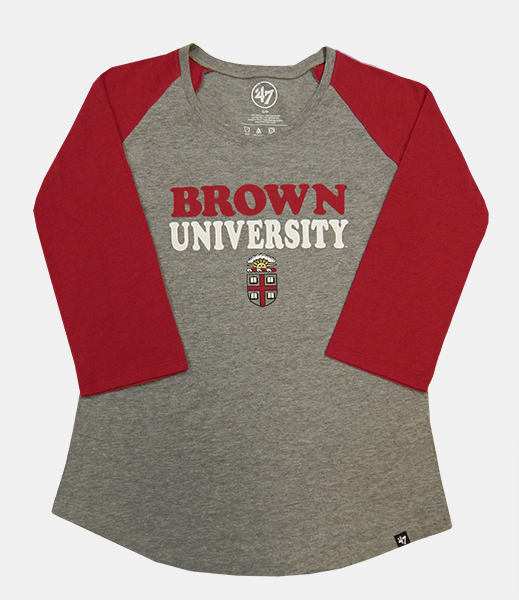 Image For 47 Brand Grey & Cardinal Univ. Women's Tee - Now $23.99