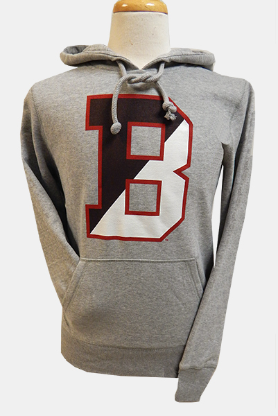 Image For 47 Brand Grey B Hooded Sweatshirt - $55.99