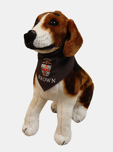 Image For 1 - ASD Brown Crest Dog Bandana  **NEW**