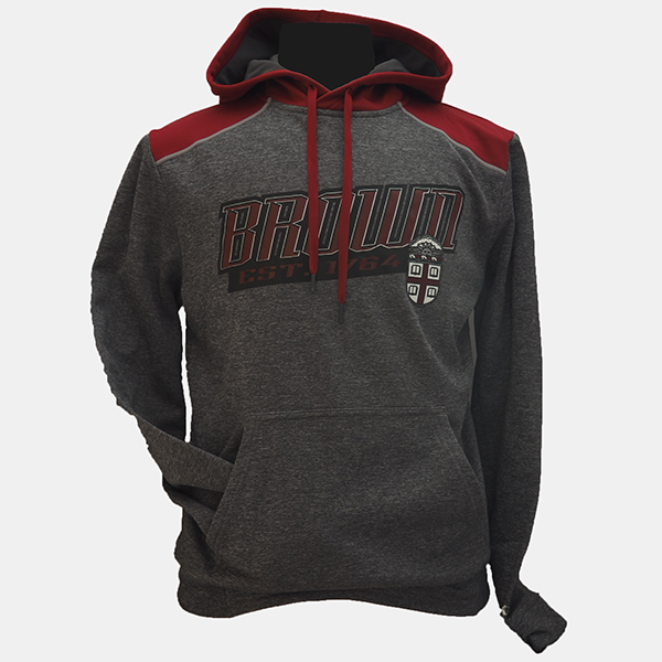 Image For Champion Grey/Cardinal Hooded Sweatshirt - $49.99